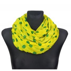 Apaszka w groszki – żółto-zielony