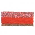 Szalik komin wzorzysty (250) – ognista czerwień