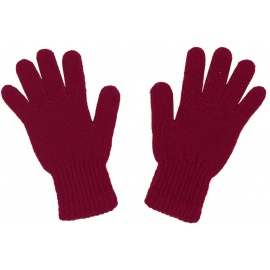 Damskie rękawiczki zimowe: bordowe
