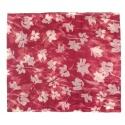 Szalik komin w kwiatki – malinowy czerwony