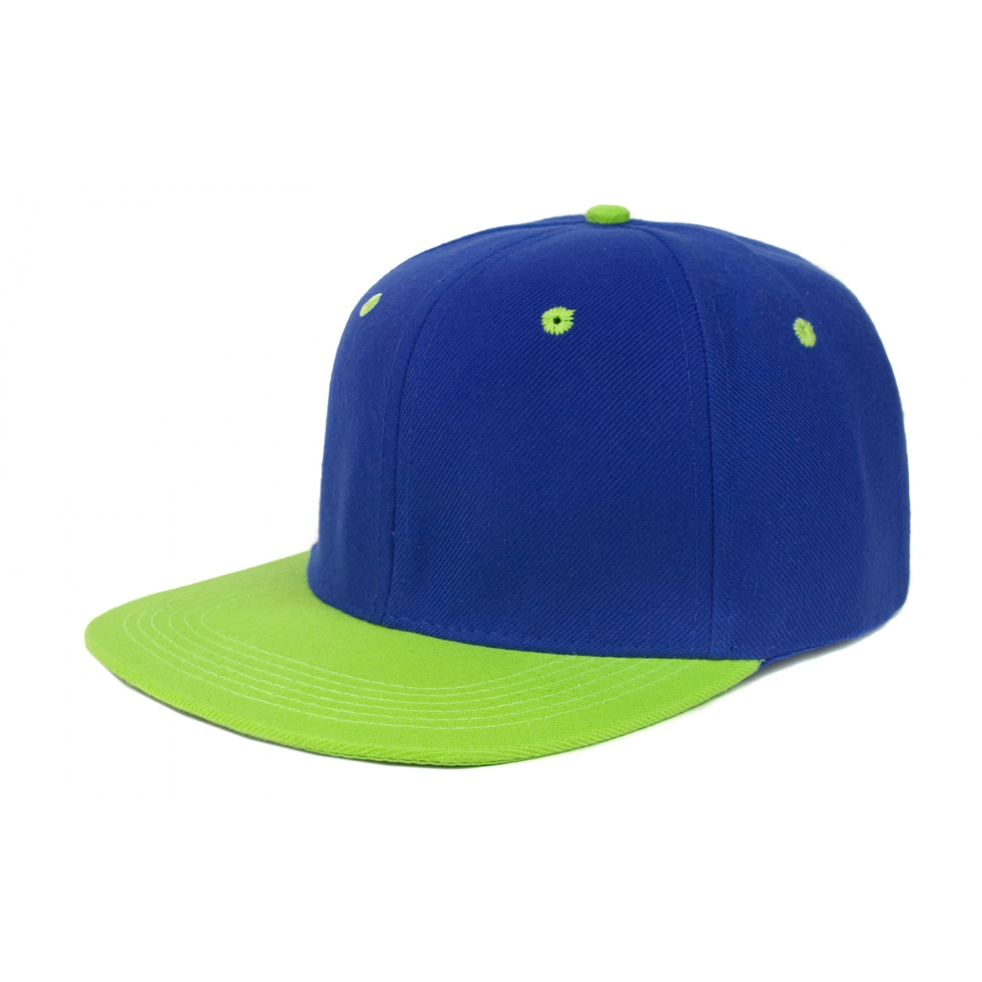 Czapka fullcap neonowa – limonka / niebieski