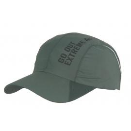Lekka szybkoschnąca wentylowana czapka z daszkiem – szarozieona