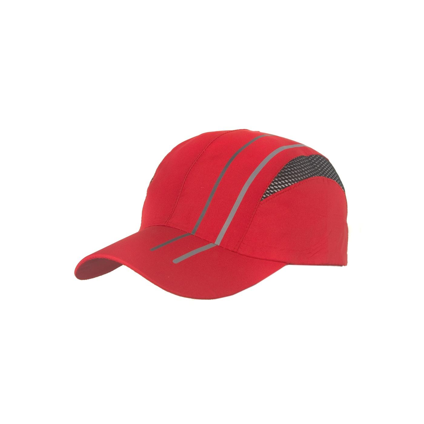 Lekka wentylowana czapka z daszkiem – czewona z siateczką