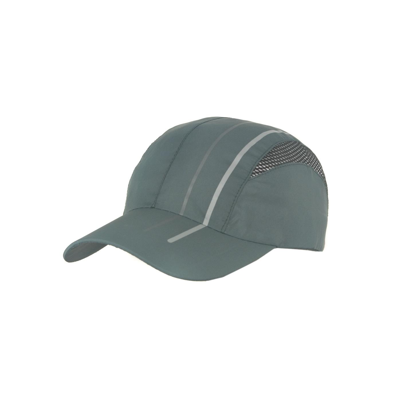 Lekka wentylowana czapka z daszkiem – szarozielona z siateczką