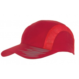 Lekka wentylowana czapka z daszkiem – czewona z nadrukiem
