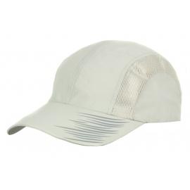 Lekka wentylowana czapka z daszkiem – popielata z nadrukiem