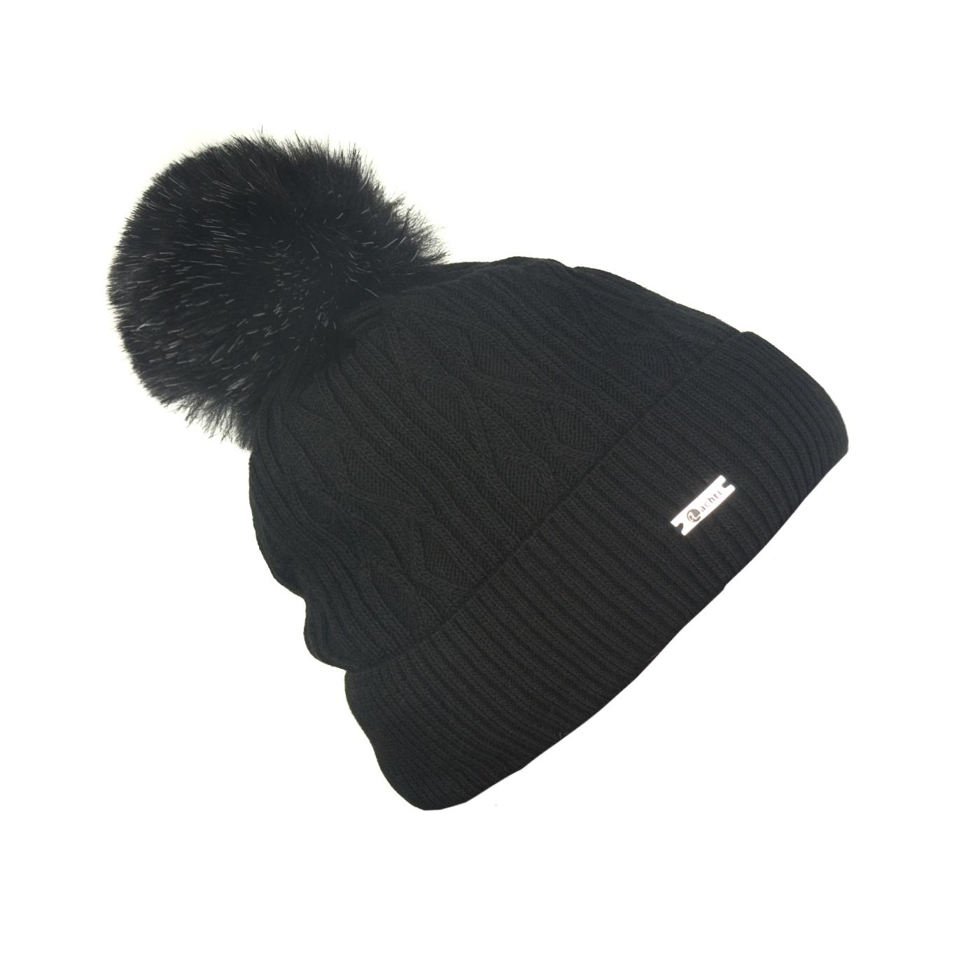 Czapka zimowa z wywinięciem - czarna