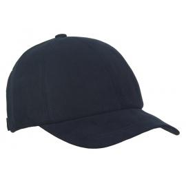 Męska zimowa zamszowa czapka z daszkiem - granatowa
