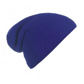 Męska czapka beanie w prązki 3w1 - niebieska