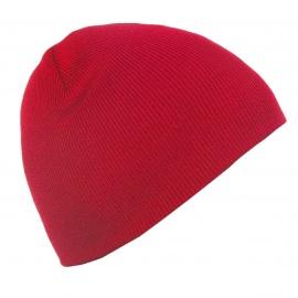 Męska czapka zimowa - czerwona