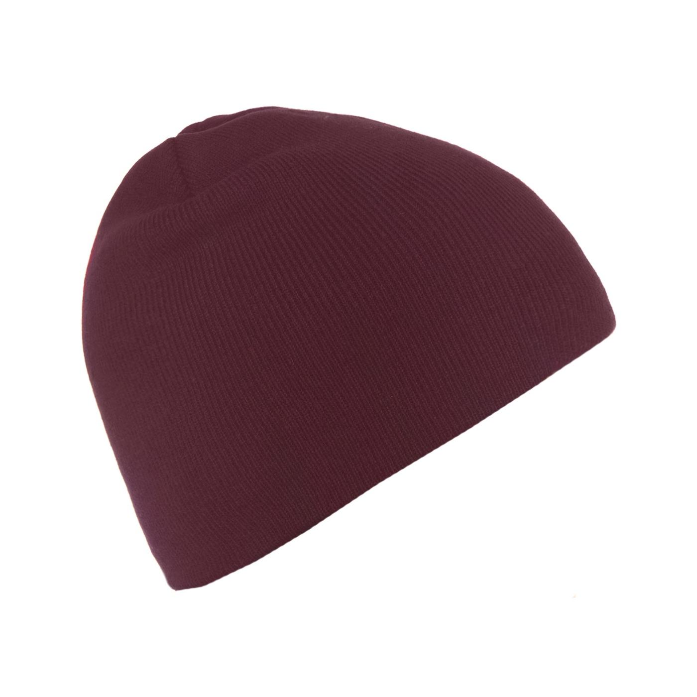 Męska czapka zimowa - burgund