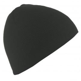 Męska bezszwowa czapka zimowa - czarna