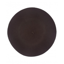 Klasyczny damski beret wełniany – brązowy