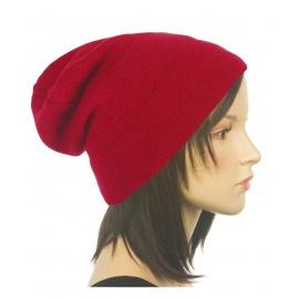 Czapka damska zimowa 3w1 beanie - czerwona