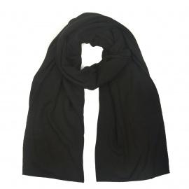 Zimowy damski szalik z dzianiny - czarny