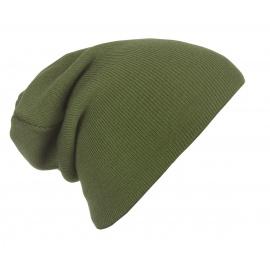 Męska czapka zimowa krasnal 3w1 - oliwowy zielony