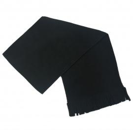 Męski szalik zimowy z polaru - czarny