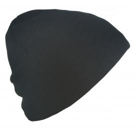 Męska czapka zimowa T podszyta polarem - czarna