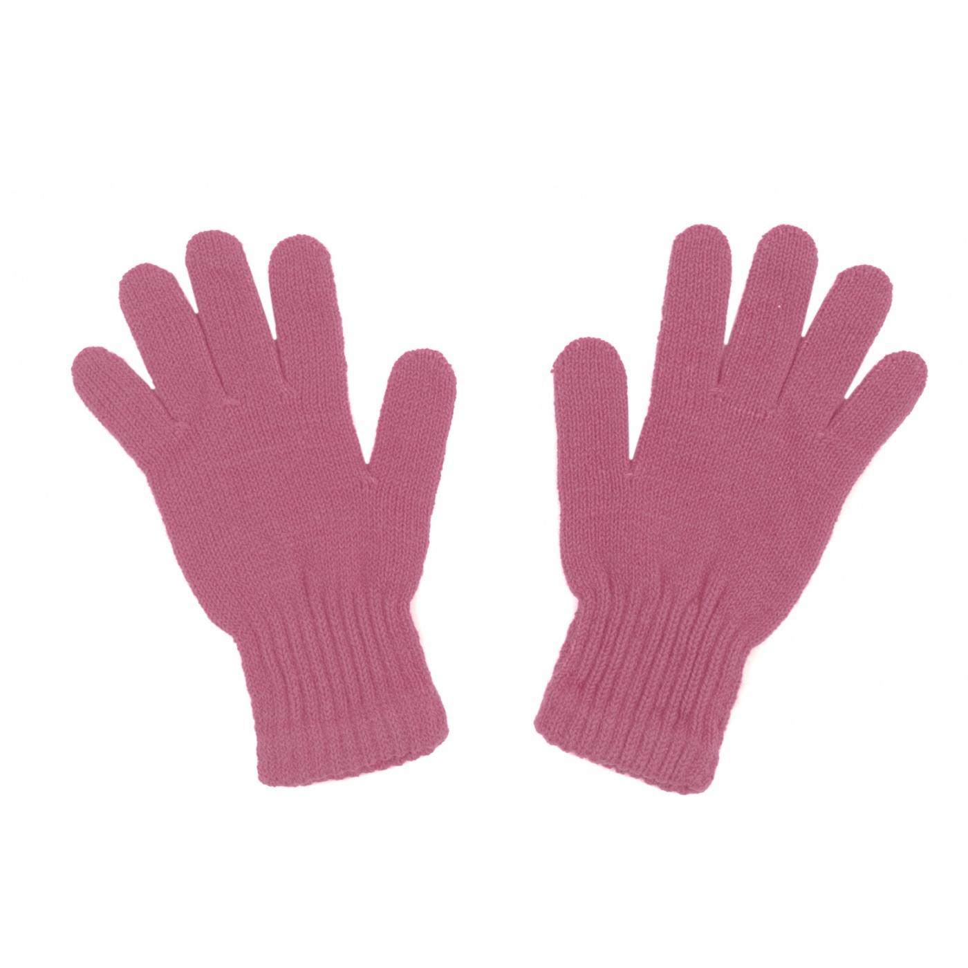 Damskie rękawiczki zimowe : brudny różowy