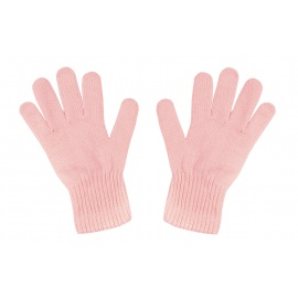 Damskie rękawiczki zimowe : pudrowy różowy