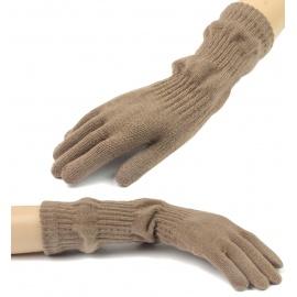 Damskie długie rękawiczki - cappuccino (2)