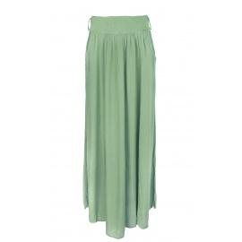 Długa spódnica z kieszeniami – oliwkowa khaki