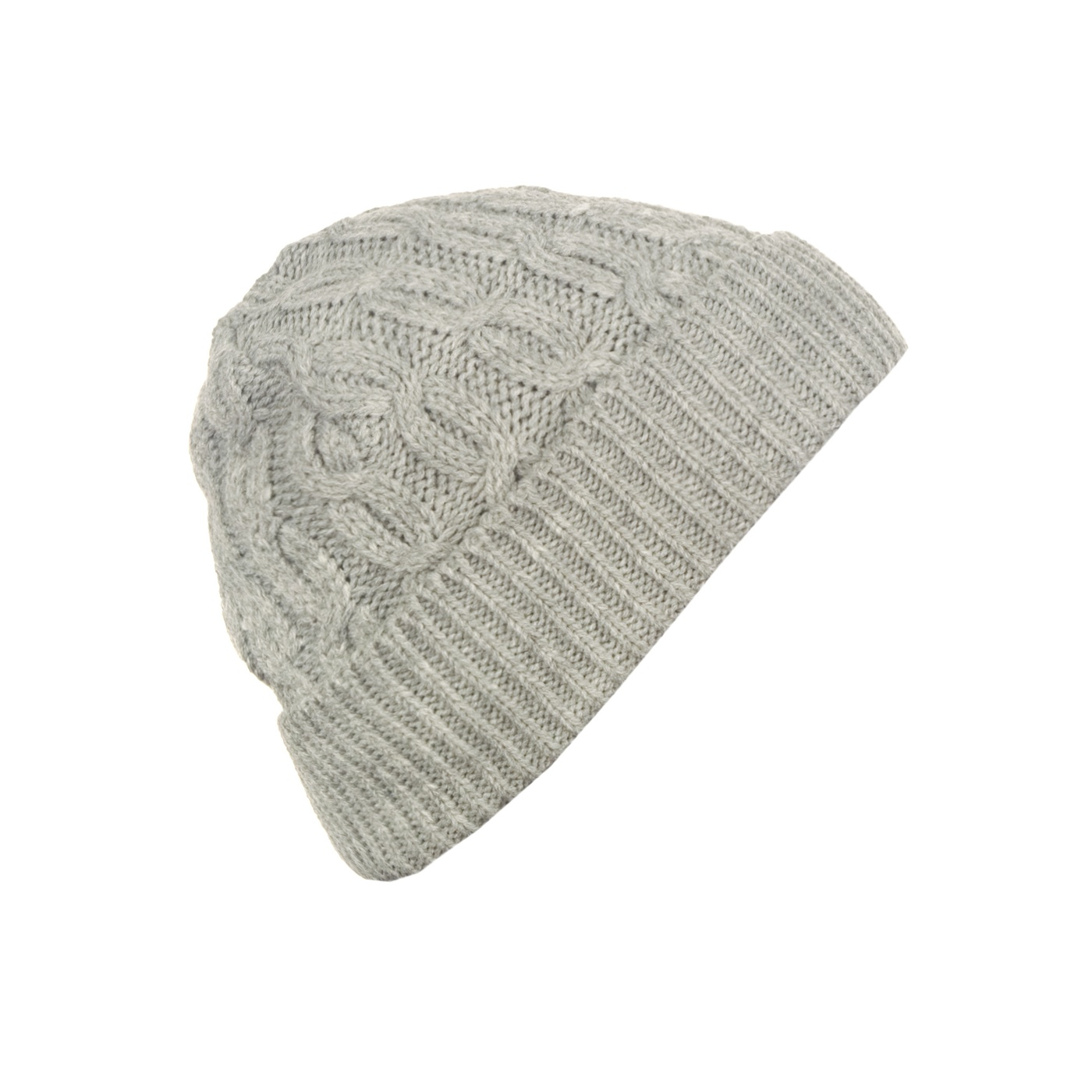 Męska czapka zimowa z wywinięciem – szara