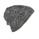 Męska czapka zimowa - czarny melanż