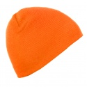 Męska czapka zimowa - pomarańczowa neonowa