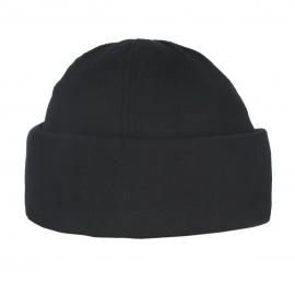 Męska czapka zimowa z polaru z wywinięciem- czarna