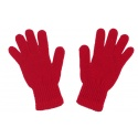 Damski komplet czapka krasnal z pomponem, szalik komin i rękawiczki : czerwony