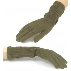 Damskie długie rękawiczki - khaki