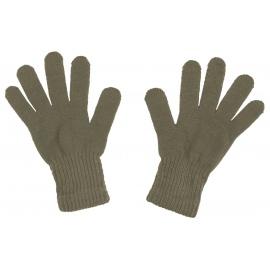 Damskie rękawiczki zimowe: jasne khaki