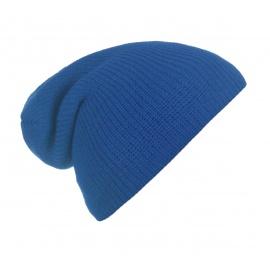 Męska czapka beanie w prążki 3w1 - jasnoniebieska