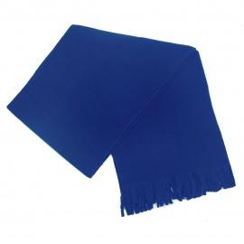 Męski szalik zimowy z polaru - niebieski