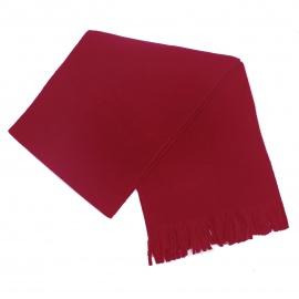 Męski szalik zimowy z polaru - czerwony
