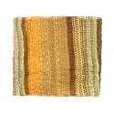 Komin szal w paski – odcienie brązu i żółtego