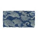 Apaszka wzorzysta – niebieski z białym