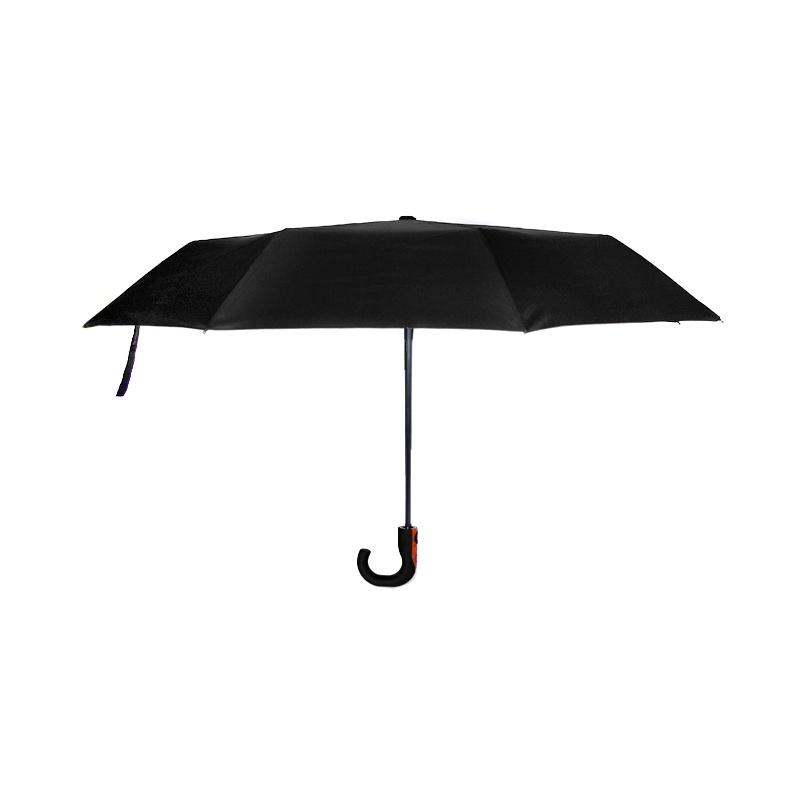 Męski parasol z zawiniętą rączką – czarny