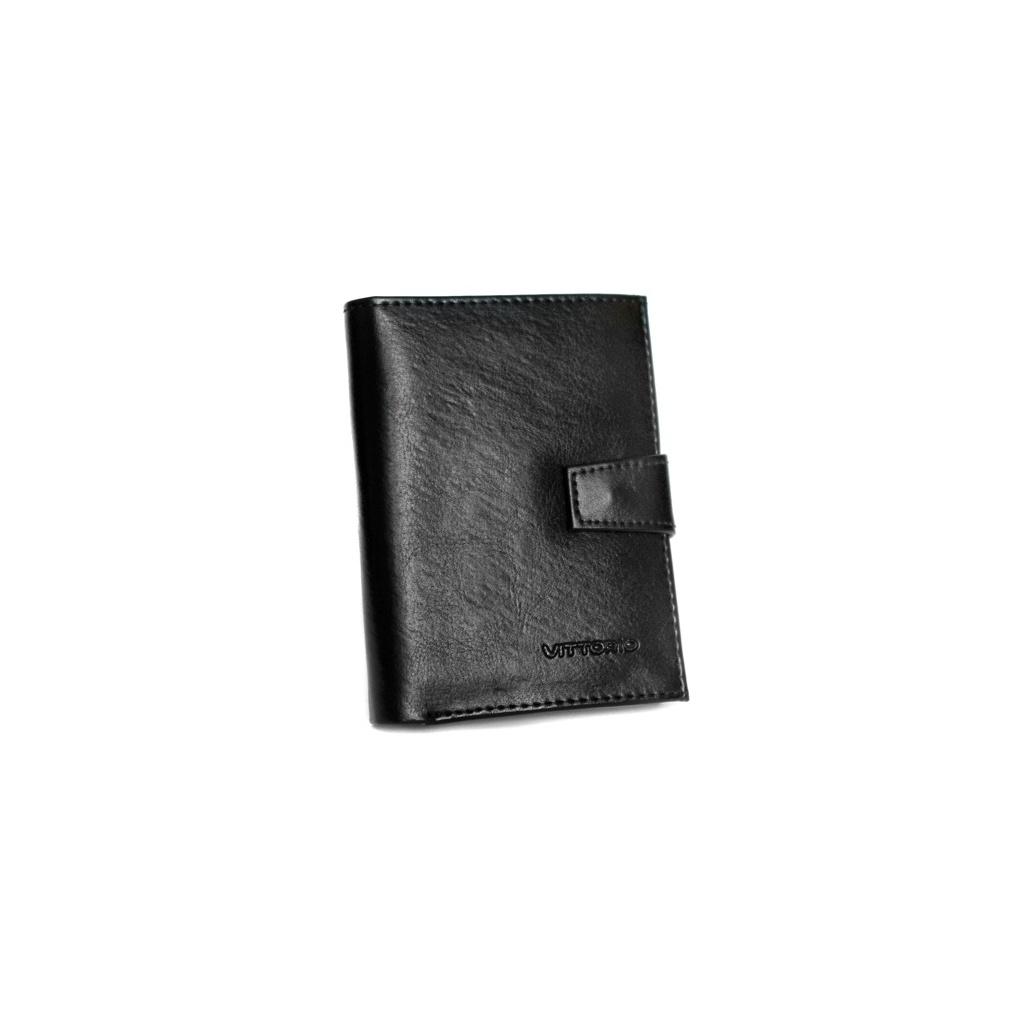 Portfel męski pionowy zapinany Vittorio – czarny