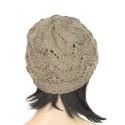 Klasyczna zimowa czapka damska z ażurowym splotem: popielata