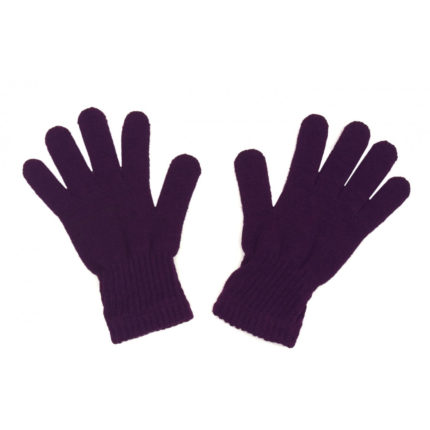 Damskie rękawiczki zimowe: śliwkowe