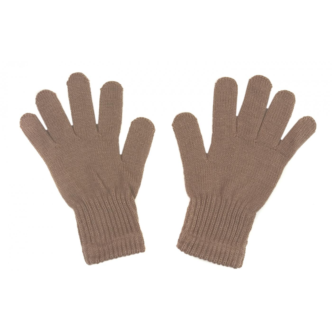 Damskie rękawiczki zimowe: cappuccino