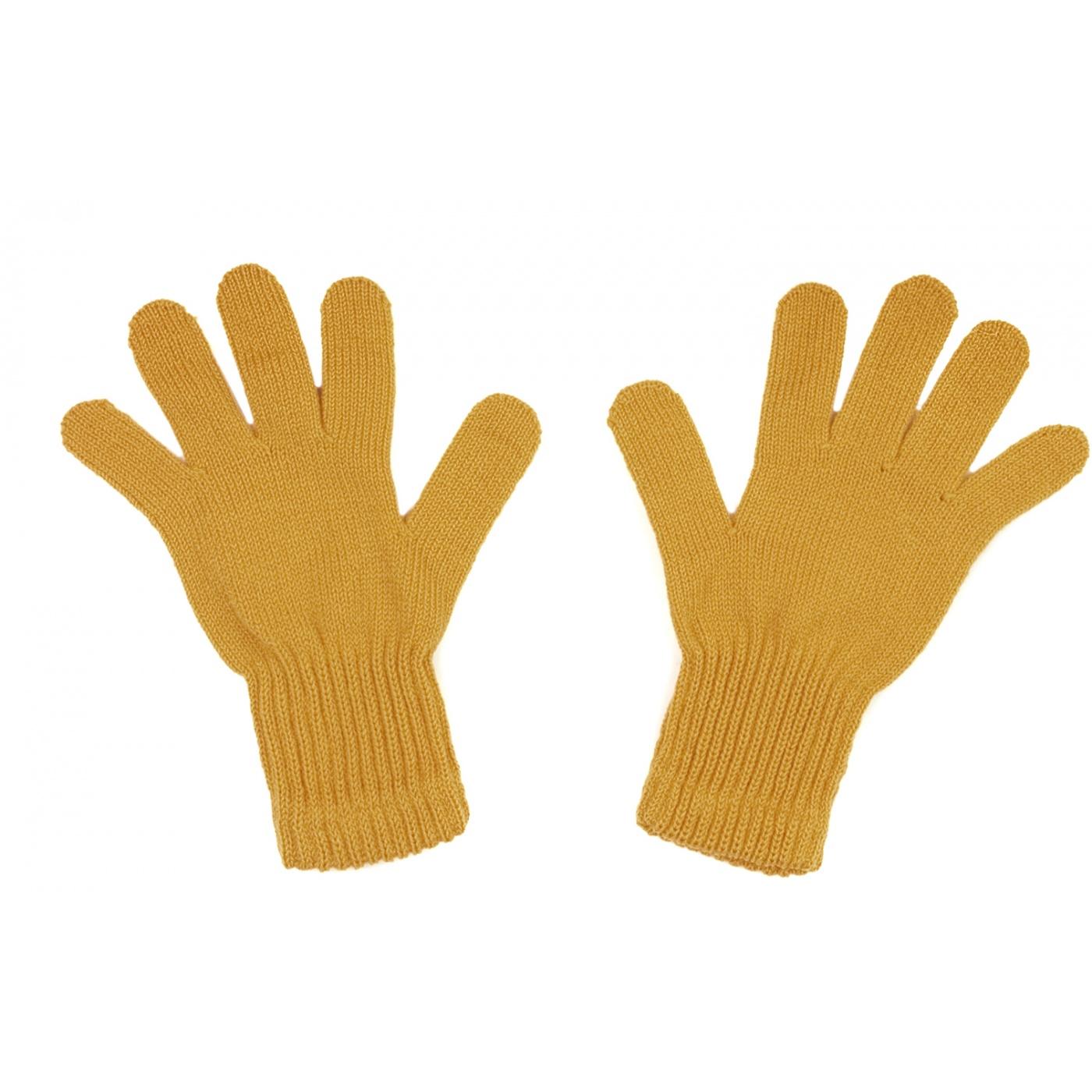 Damskie rękawiczki zimowe: musztardowe