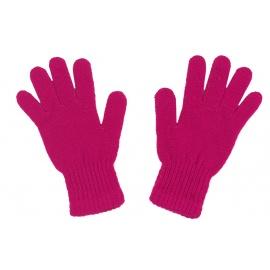 Damskie rękawiczki zimowe: ciemnoróżowe