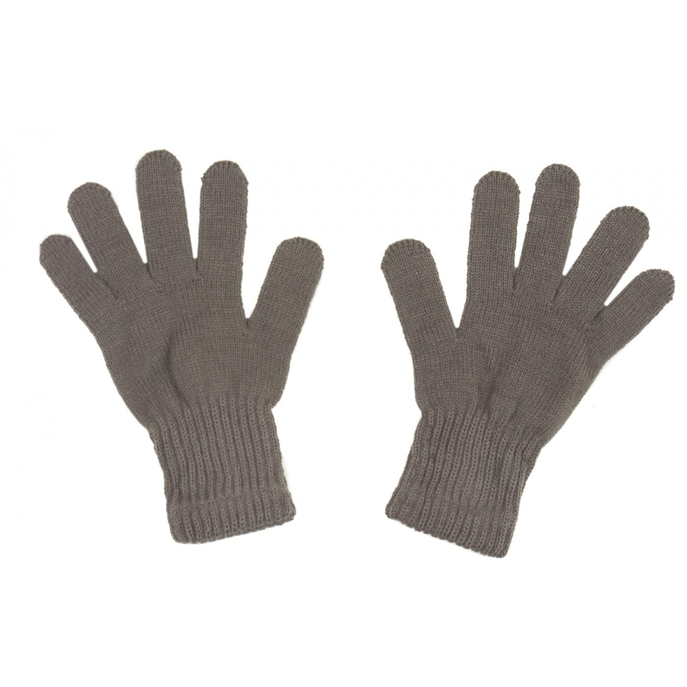 Damskie rękawiczki zimowe: cappuccino ciemne