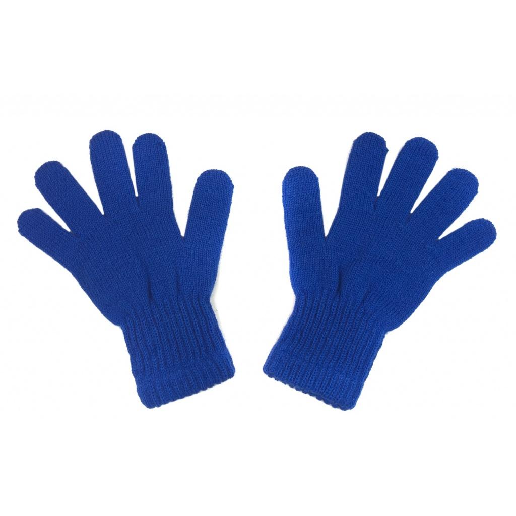 Damskie rękawiczki zimowe: szafirowe