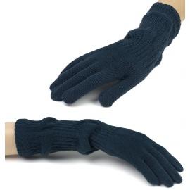 Damskie długie rękawiczki - granatowe (2)