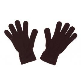 Damskie rękawiczki zimowe: czekoladowe