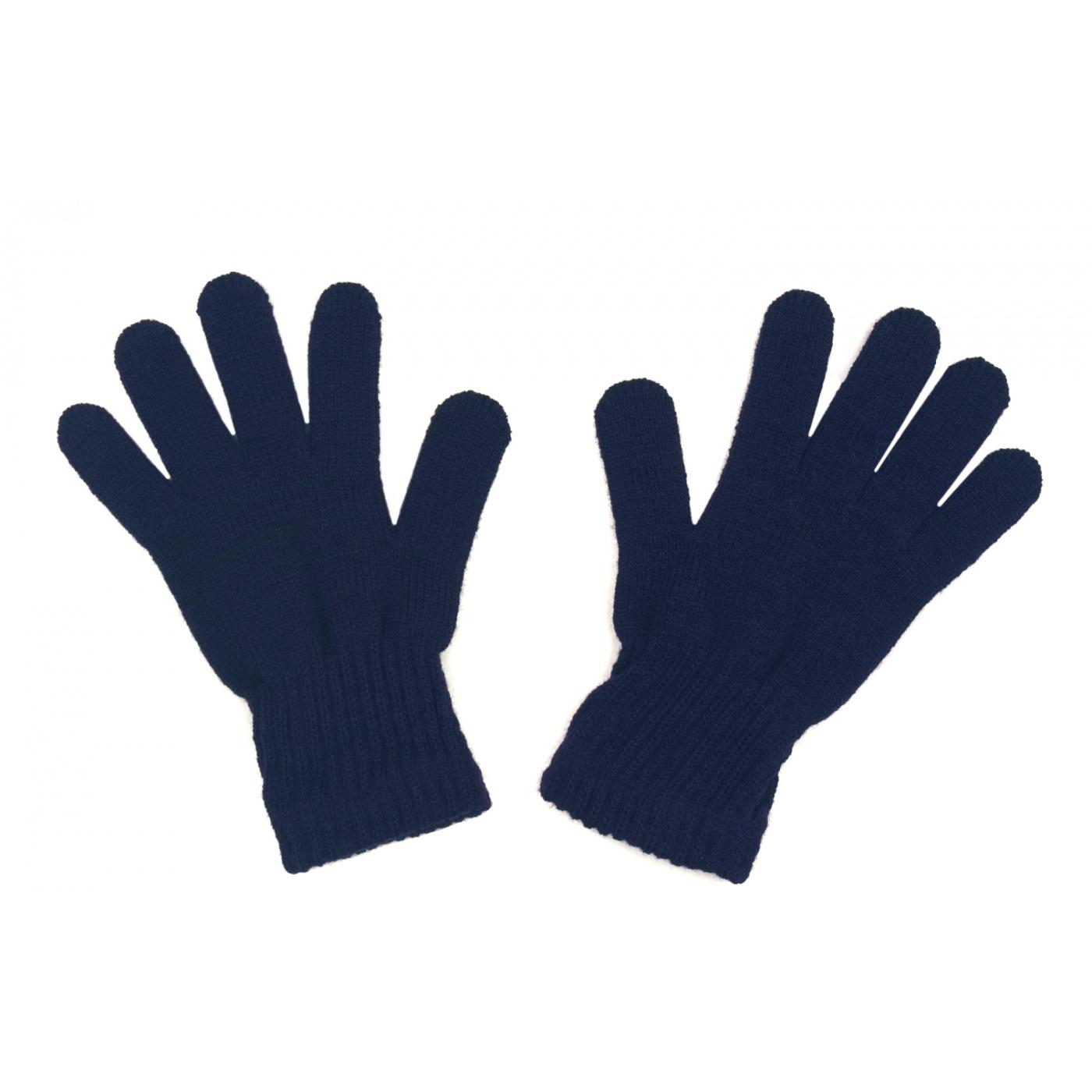 Damskie rękawiczki zimowe: granatowe